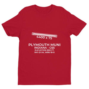 c65 plymouth in t shirt, Red