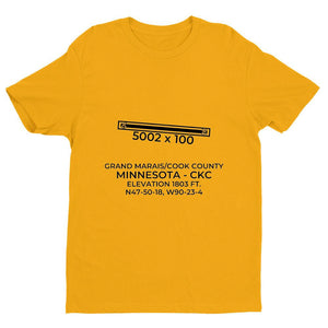 ckc grand marais mn t shirt, Yellow