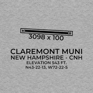 cnh claremont nh t shirt, Gray