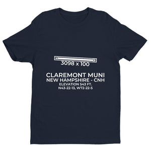 cnh claremont nh t shirt, Navy