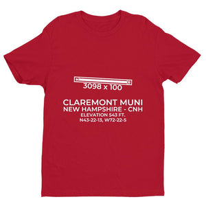 cnh claremont nh t shirt, Red