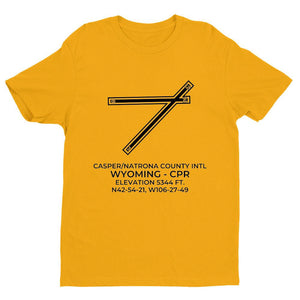 cpr casper wy t shirt, Yellow