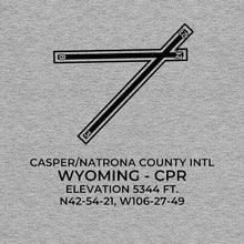 Load image into Gallery viewer, cpr casper wy t shirt, Gray