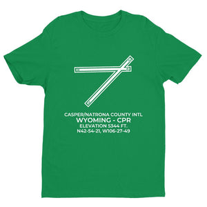 cpr casper wy t shirt, Green