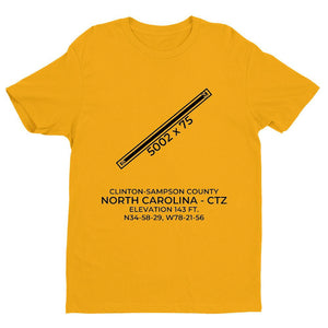 ctz clinton nc t shirt, Yellow