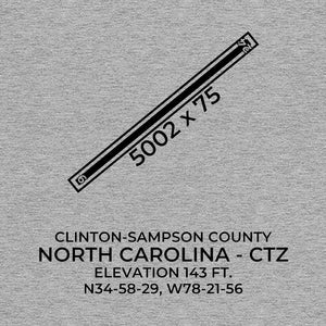 ctz clinton nc t shirt, Gray