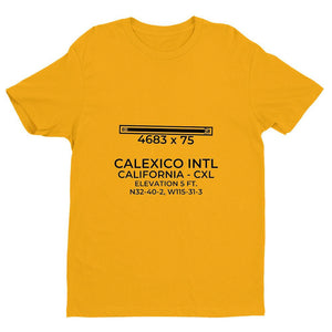 cxl calexico ca t shirt, Yellow