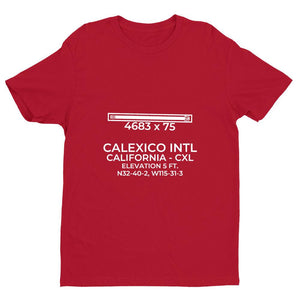 cxl calexico ca t shirt, Red