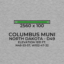 Load image into Gallery viewer, d49 columbus nd t shirt, Gray