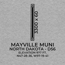 Load image into Gallery viewer, d56 mayville nd t shirt, Gray