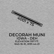 Load image into Gallery viewer, deh decorah ia t shirt, Gray