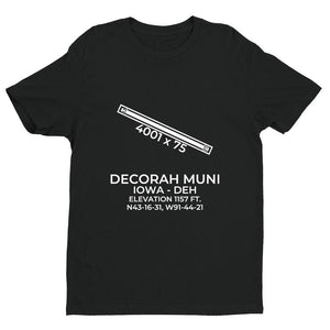 deh decorah ia t shirt, Black