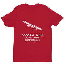 Load image into Gallery viewer, deh decorah ia t shirt, Red