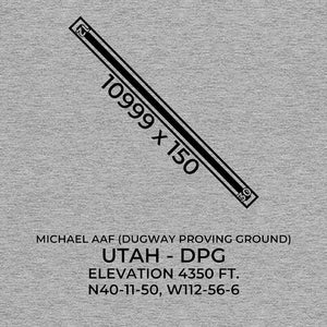 dpg dugway proving ground ut t shirt, Gray
