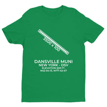 Load image into Gallery viewer, dsv dansville ny t shirt, Green