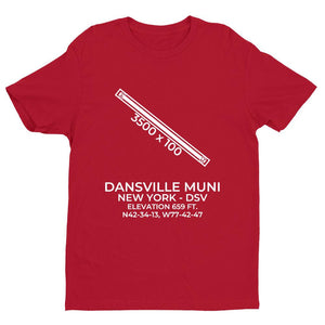 dsv dansville ny t shirt, Red