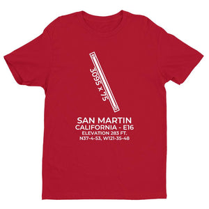 e16 san martin ca t shirt, Red