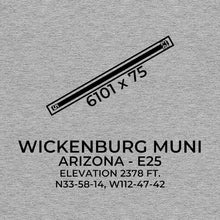 Load image into Gallery viewer, e25 wickenburg az t shirt, Gray