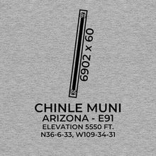 Load image into Gallery viewer, e91 chinle az t shirt, Gray