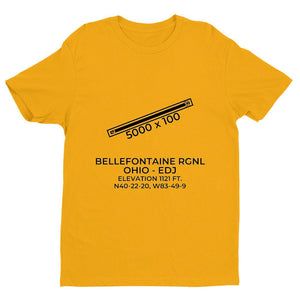 edj bellefontaine oh t shirt, Yellow