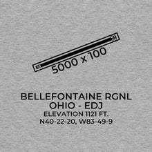 Load image into Gallery viewer, edj bellefontaine oh t shirt, Gray