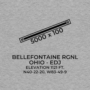 edj bellefontaine oh t shirt, Gray