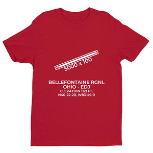 edj bellefontaine oh t shirt, Red