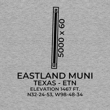 Load image into Gallery viewer, etn eastland tx t shirt, Gray