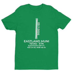 etn eastland tx t shirt, Green