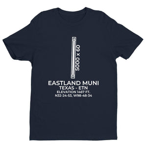 etn eastland tx t shirt, Navy