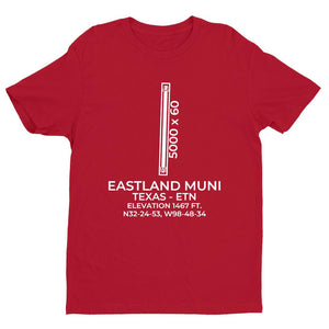 etn eastland tx t shirt, Red