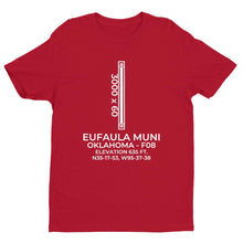 Load image into Gallery viewer, f08 eufaula ok t shirt, Red