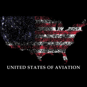 UNITED STATES OF AVIATION (Plot of CONUS airfields) T-Shirt