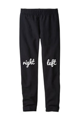 Infant/Toddler Right-Left Leggings in Black