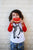 Toddler Penguin Educational Raglan in White/Red