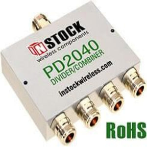 Instock ACC-IS-00003 Wireless 4-way DAS Splitter/Combiner