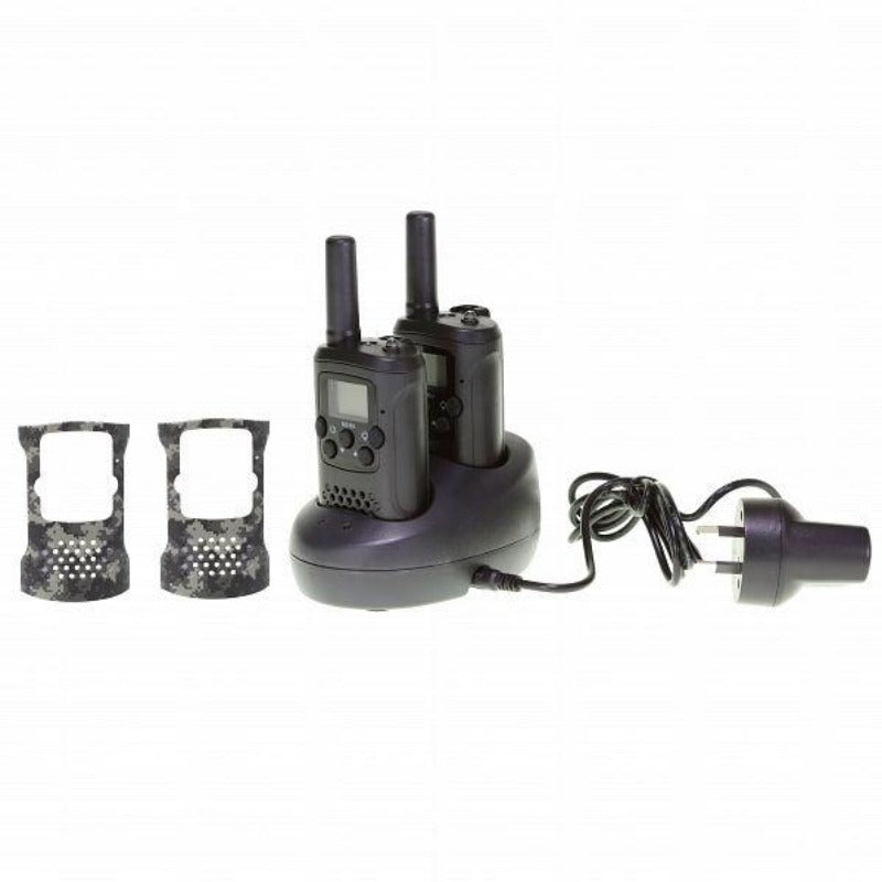Crystal Mobile DBH11R Rechargeable 1W Handheld UHF CB Radio (Twin Pack)