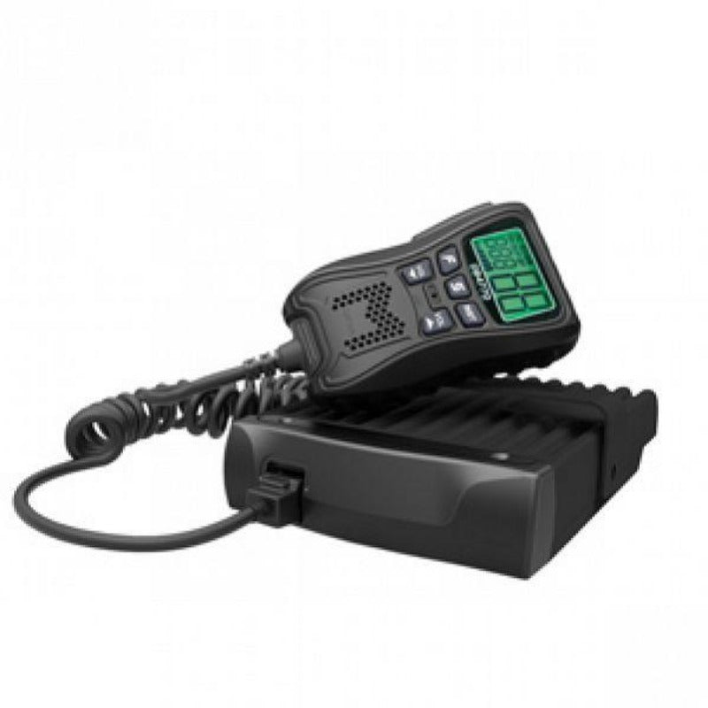 Crystal Mobile DB477D 5W Compact In-car UHF CB Radio with Remote Microphone Control & Display
