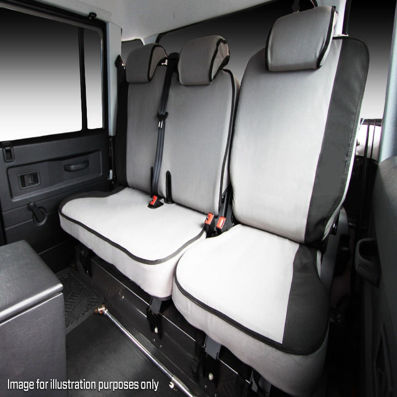 MSA VWA02 Volkswagen Amarok / MY17 V6 Highline / Sportline Rear Dual Cab 60/40 Bench Single Back Seat Cover (3 Headrests)