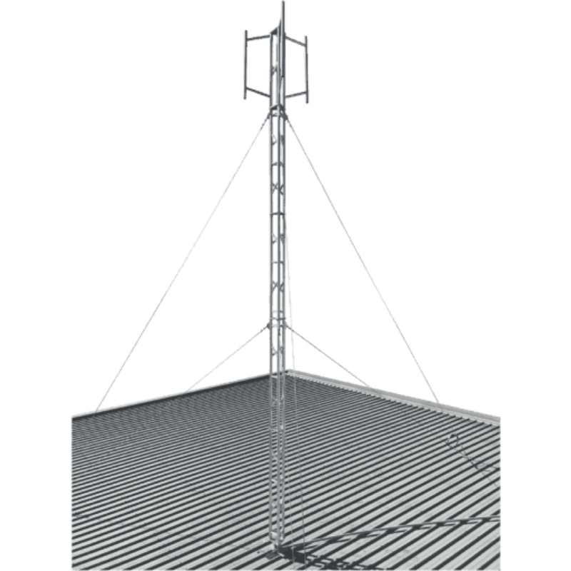 Blackhawk MAS-BH-00034 220mm Aluminium Roof Mounted 3.4-metre Lattice Tower (Stainless Guyed)