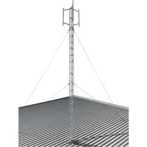 Blackhawk MAS-BH-00036 220mm Aluminium Roof Mounted 9.6-metre Lattice Tower (Stainless Guyed)