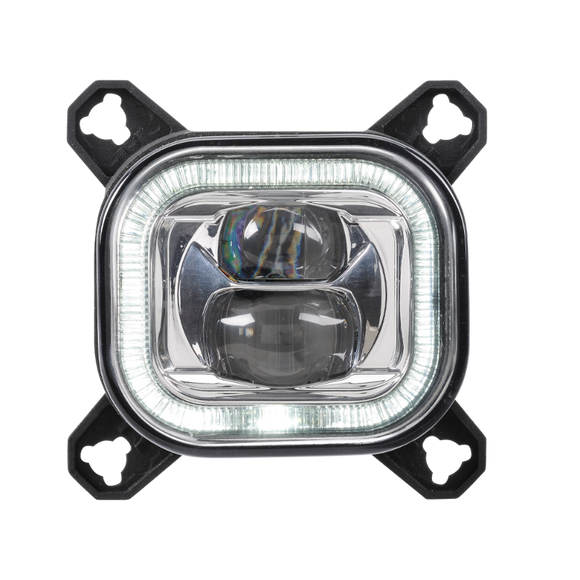 Narva 71996 90MM Square LED Low Beam Lamp with DRL & Position Ring