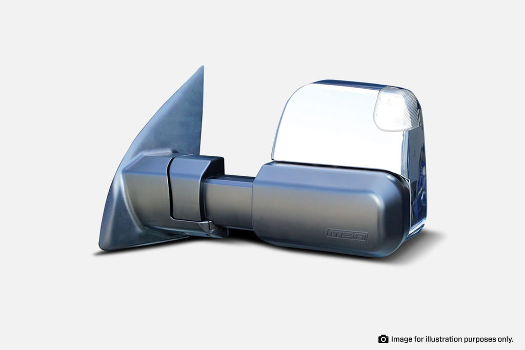 MSA TM1805 Ford Everest Towing Mirrors (Chrome Heated Electric Indicators) 2015-Current