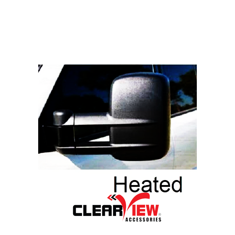 Clearview CV-JP-GC-PEB Towing Mirrors for Jeep Grand Cherokee [Heated; Electric; Black; Memory; Blind Spot Monitoring]