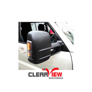 Clearview CV-MP-NT-EB Towing Mirrors for Mitsubishi Pajero [Electric; Black]
