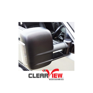 Clearview CV-MT-2015-IEB Towing Mirrors for Mitsubishi Triton [Indicators; Electric; Black]