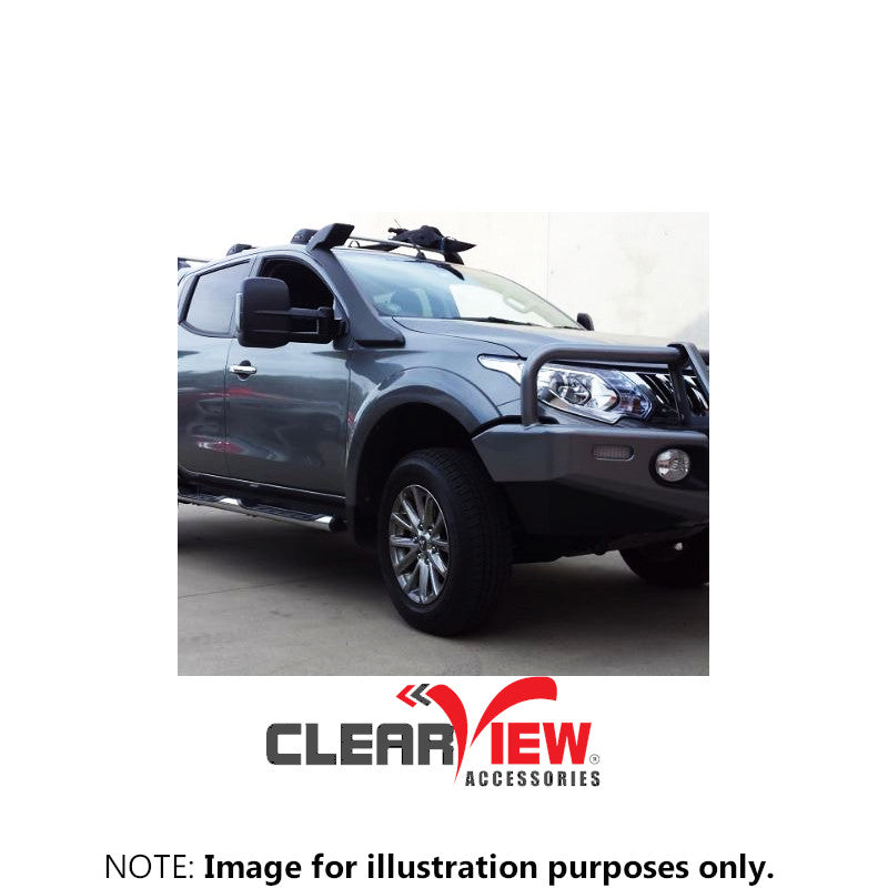 Clearview CV-MT-2015-HFSIEC Towing Mirrors for Mitsubishi Triton [Chrome; Heated; Powerfold; BSM; Indicators; Electric]
