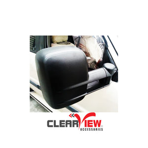 Clearview CV-NP-GU-MB Towing Mirrors for Nissan Patrol GU/Y61/CabChassis [Manual; Black]