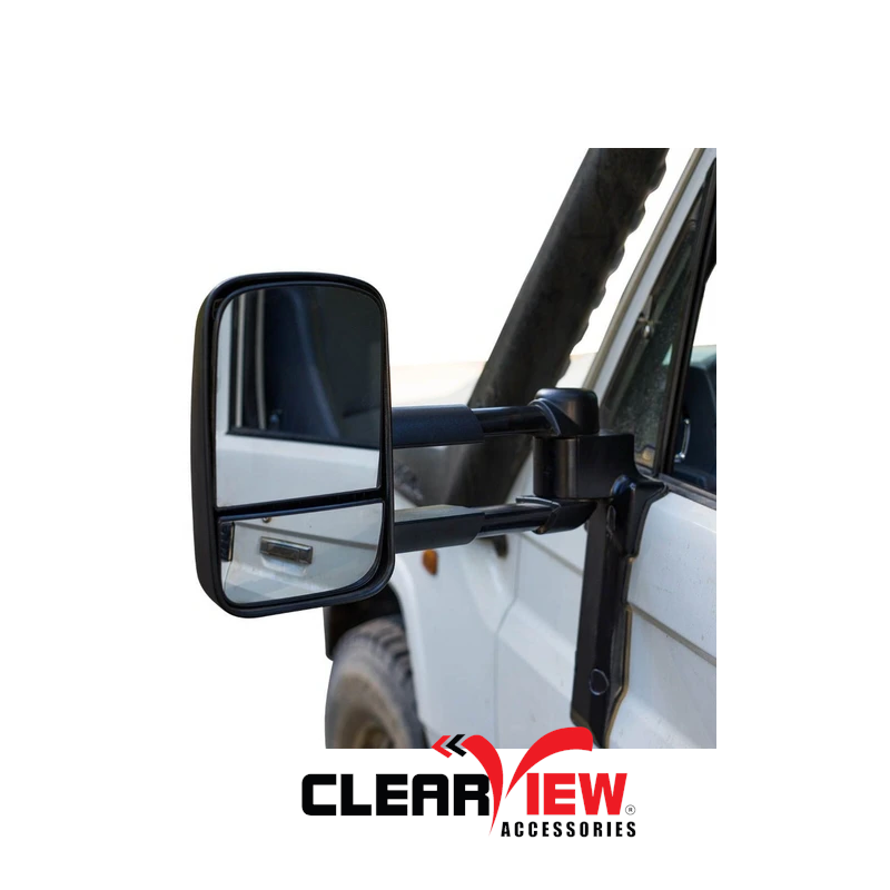 Clearview CV-TL-70S-MB Towing Mirrors [Manual; Black]