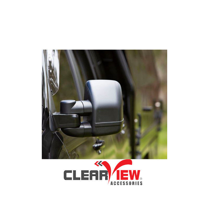 Clearview CVNG-FD-TY-EB Towing Mirrors for Ford Territory [Next Gen; Pair; Electric; Black]